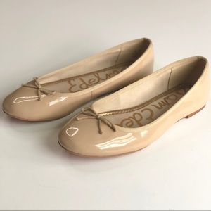 Sam Edelman Finley nude leather flats - size 7.5